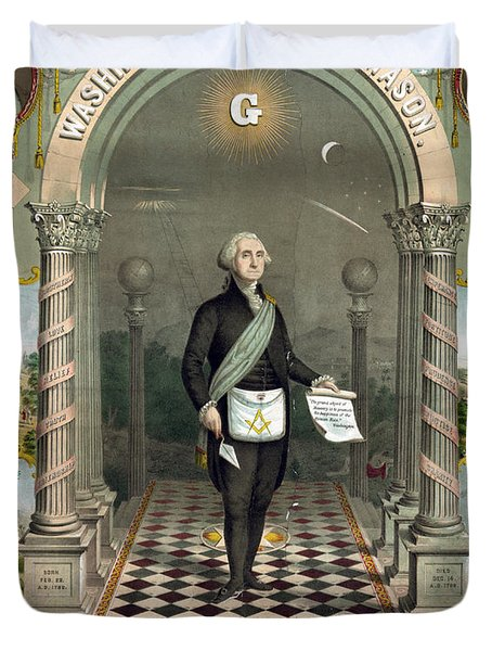 George Washington Freemason Duvet Cover