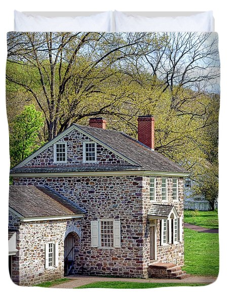 George Washington Headquarters At Valley Forge Duvet Cover