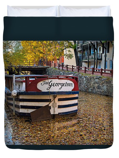 Georgetown Barge Duvet Cover