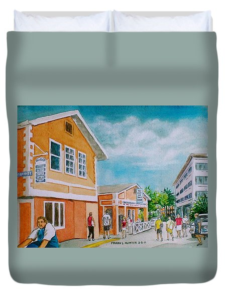 Georgetown Grand Cayman Duvet Cover by Frank Hunter