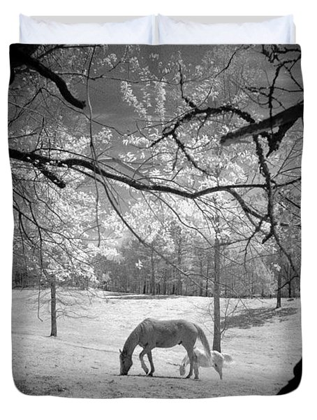 Georgia Horses Duvet Cover