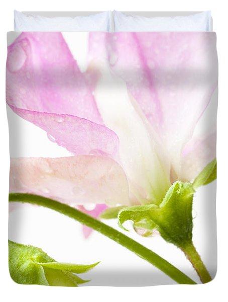 Geranium Pink Duvet Cover by Anne Gilbert