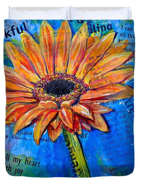 Gerbera Daisy Love Duvet Cover by Lisa Fiedler Jaworski