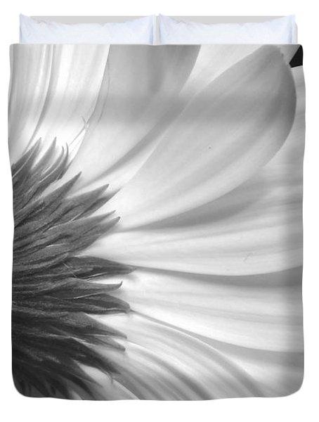 Gerbera Daisy Monochrome Duvet Cover by Jeannie Rhode
