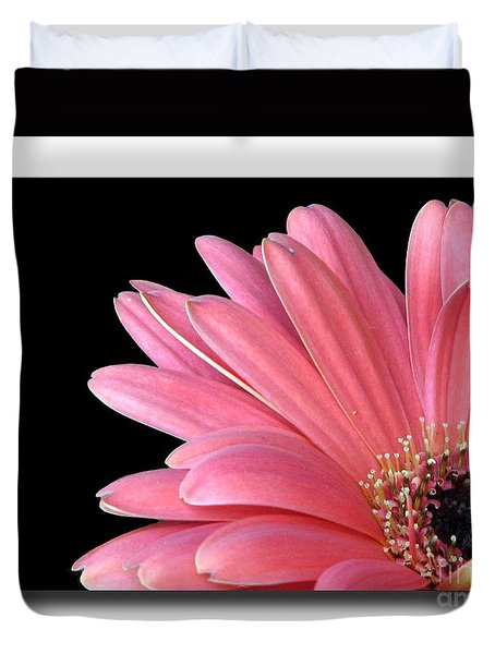 Duvet Cover featuring the photograph Gerbera Encore by Chris Anderson