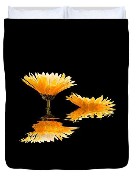 Gerbera Reflection Duvet Cover