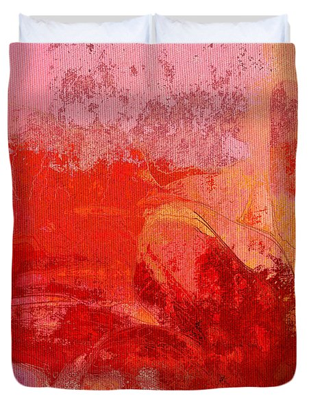 Gerberie - 221at02 Duvet Cover by Variance Collections
