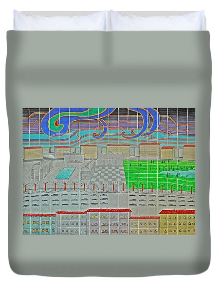 German Cityscape Duvet Cover