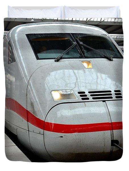 German Ice Intercity Bullet Train Munich Germany Duvet Cover