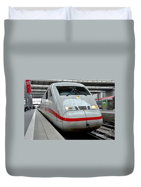 German Ice Intercity Bullet Train Munich Germany Duvet Cover