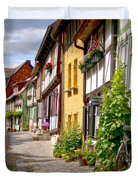 German Old Village Quedlinburg Duvet Cover by Heiko Koehrer-Wagner