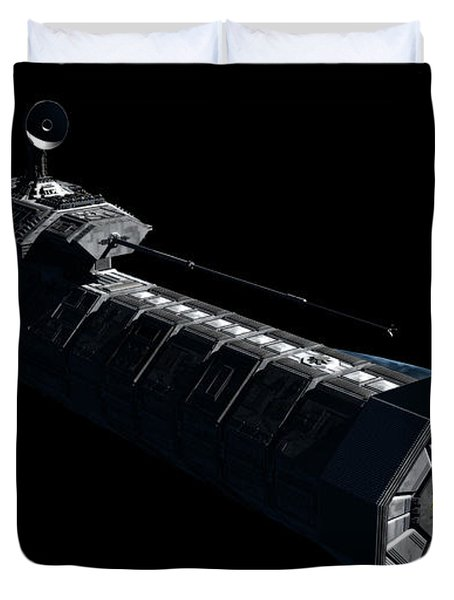 German Orbital Weapons Platform Duvet Cover by Rhys Taylor