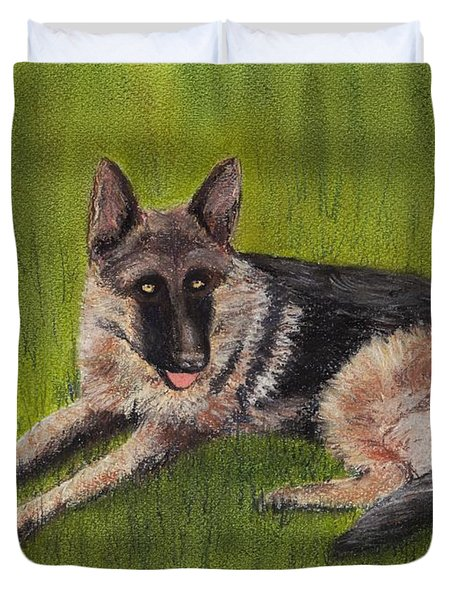 German Shepherd Duvet Cover by Anastasiya Malakhova