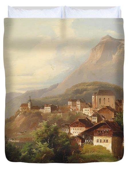 German Village Duvet Cover by Mountain Dreams