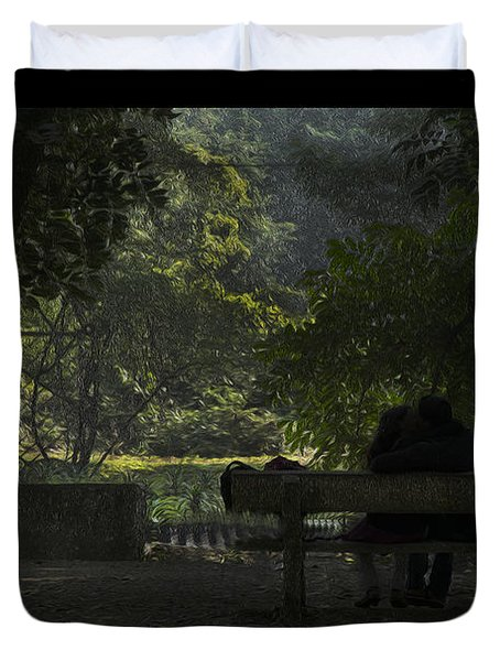 Romantic Moments Duvet Cover by Kiran Joshi