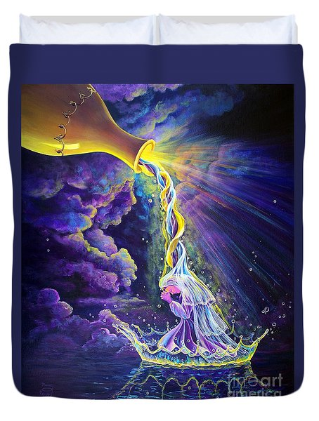 Get Ready Duvet Cover by Nancy Cupp
