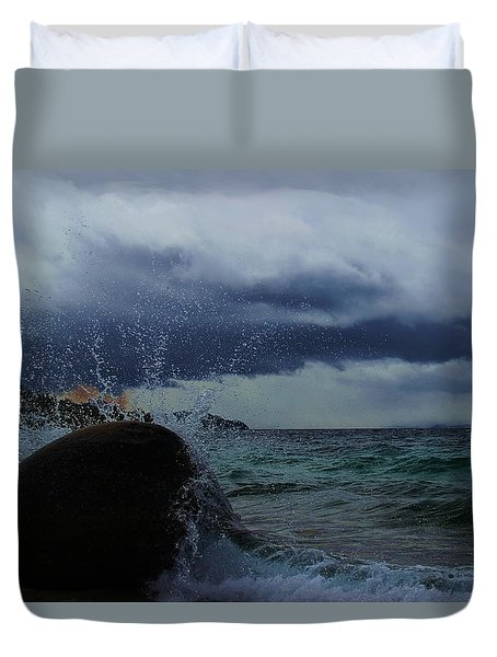 Get Splashed Duvet Cover by Sean Sarsfield