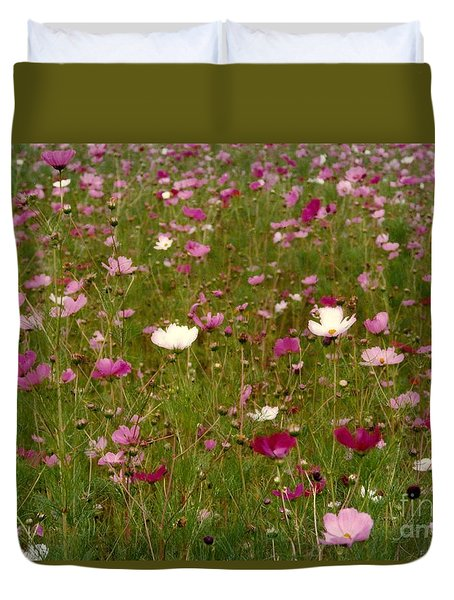 Duvet Cover featuring the photograph Get Well Bouquet Just For You by Michael Hoard