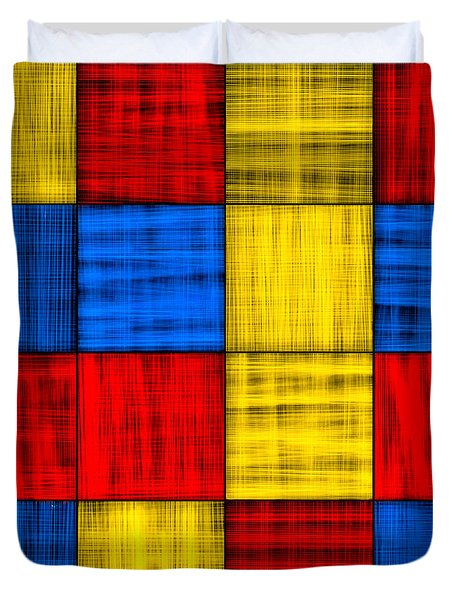 Getting Lost At The Intersection - Abstract Duvet Cover by Mark E Tisdale