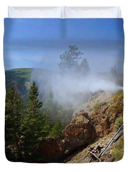 Getting Steamed Duvet Cover by Jeremy Rhoades