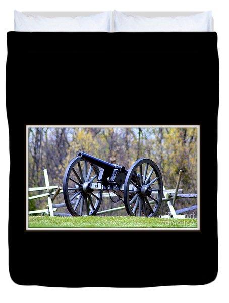 Gettysburg Battlefield Cannon Duvet Cover by Patti Whitten