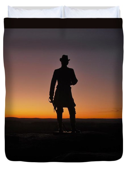 Duvet Cover featuring the photograph Gettysburg Sunset by Ed Sweeney