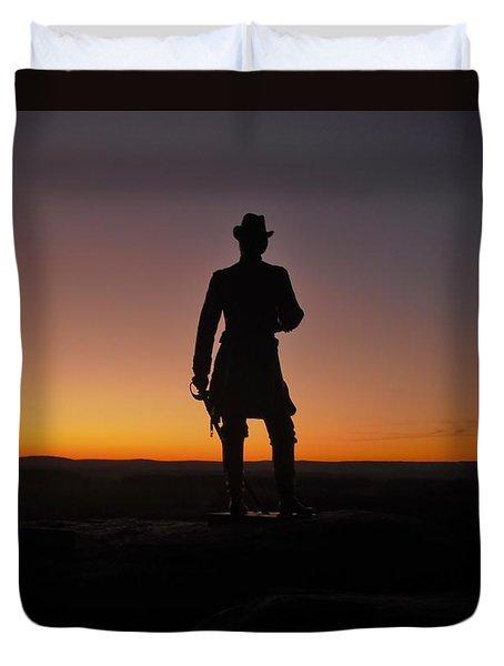 Gettysburg Sunset Duvet Cover by Ed Sweeney