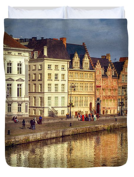 Ghent Waterfront Duvet Cover