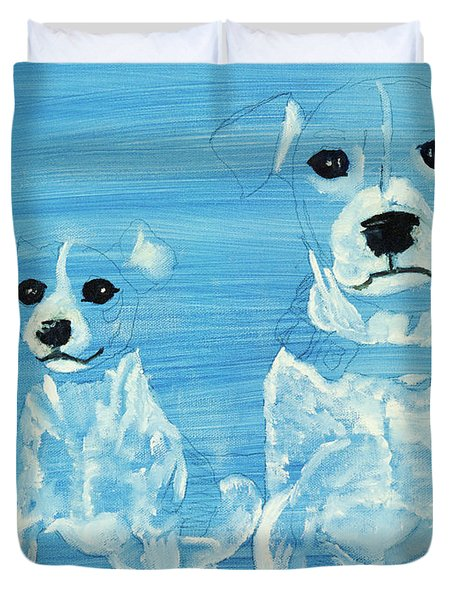 Ghost Dogs Duvet Cover by Terry Lewey