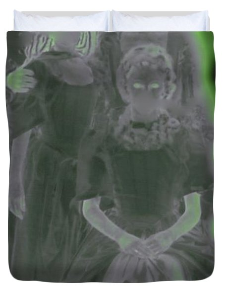 Ghost Family Portrait Duvet Cover by First Star Art
