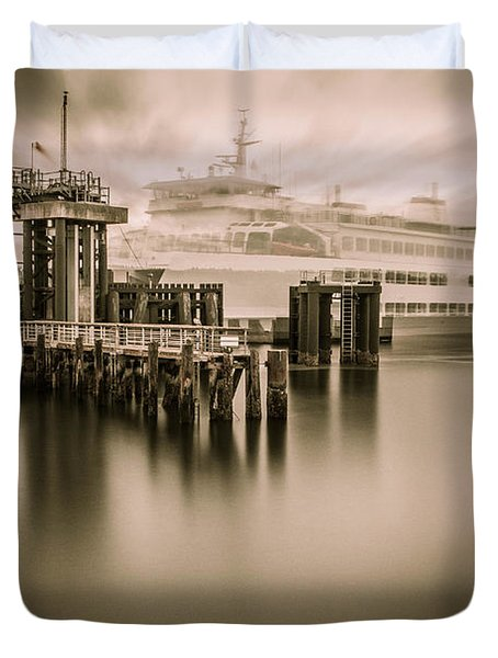 Ghost Ferry Duvet Cover