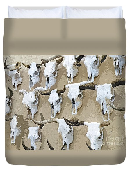 Ghost Herd On The Wall Duvet Cover