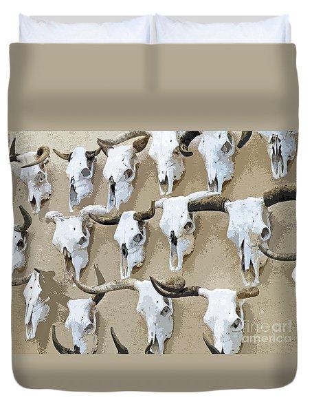 Ghost Herd On The Wall Duvet Cover by Joe Jake Pratt