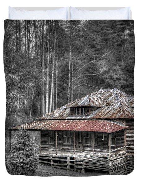 Ghost In The Window Duvet Cover by Debra and Dave Vanderlaan