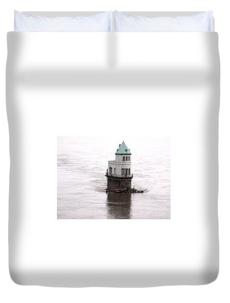 Duvet Cover featuring the photograph Ghost In The Window by Kelly Awad