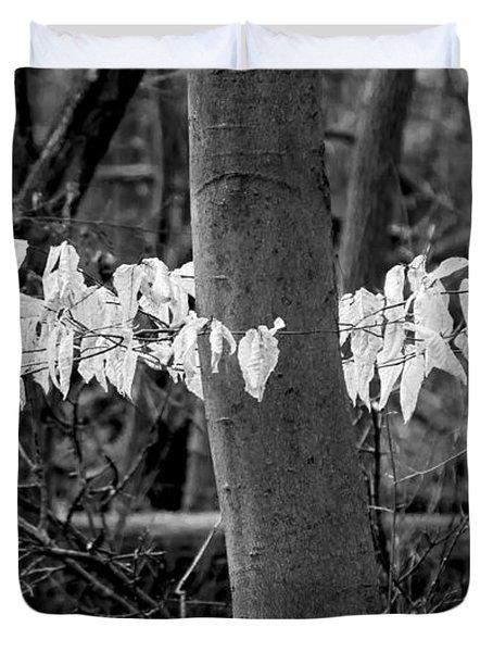 Ghost Leaves Duvet Cover