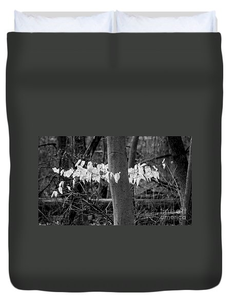 Ghost Leaves Duvet Cover by Steven Ralser