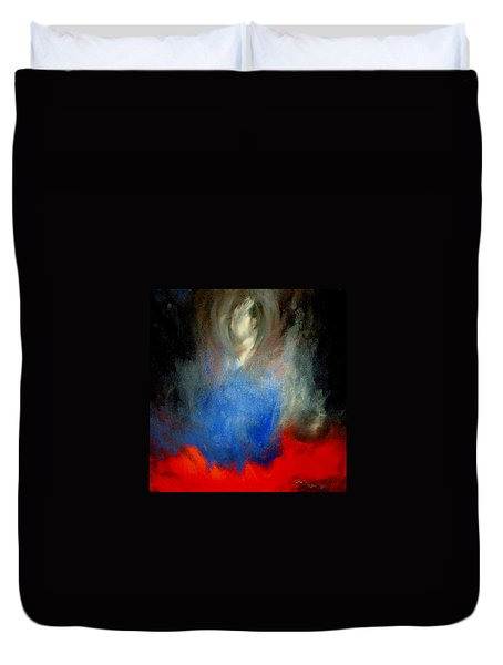 Duvet Cover featuring the painting Ghost by Lisa Kaiser