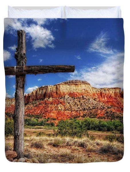Ghost Ranch Cross Duvet Cover