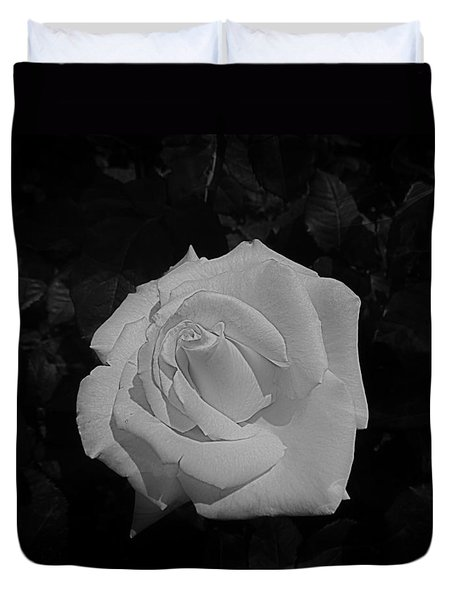 Duvet Cover featuring the photograph Ghost Rose by Nick Kloepping