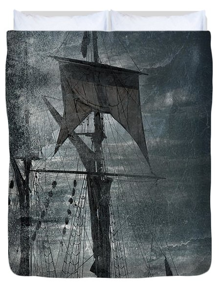 Ghost Ship Chicago Duvet Cover
