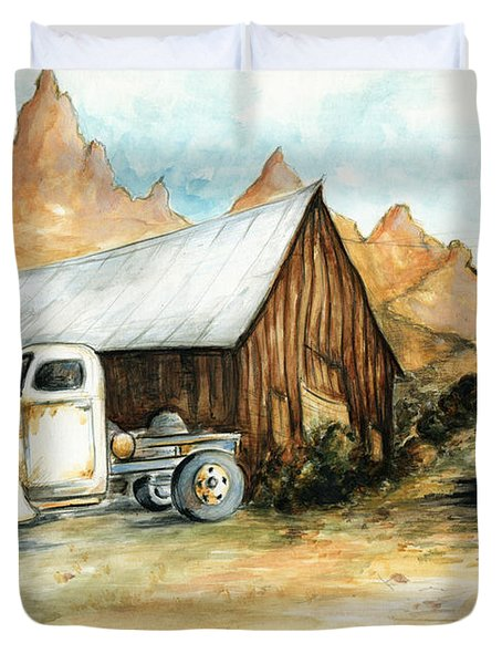 Ghost Town Nevada - Western Art Painting Duvet Cover