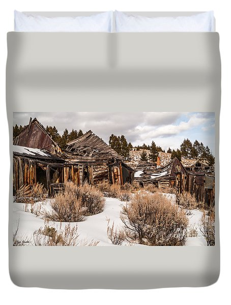 Ghost Town Duvet Cover by Sue Smith