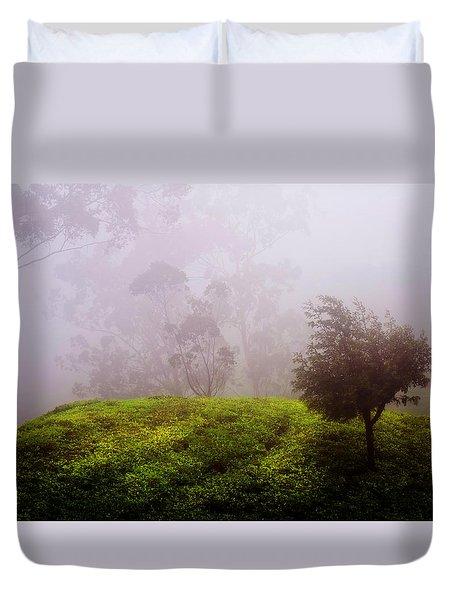 Ghost Tree In The Haunted Forest. Nuwara Eliya. Sri Lanka Duvet Cover by Jenny Rainbow