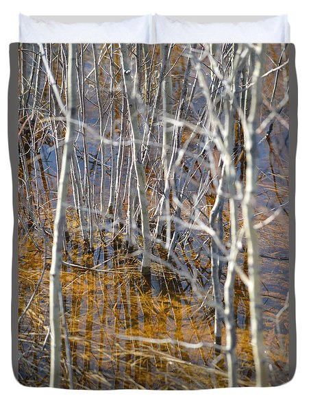 Duvet Cover featuring the photograph Ghost Willows by Brian Boyle