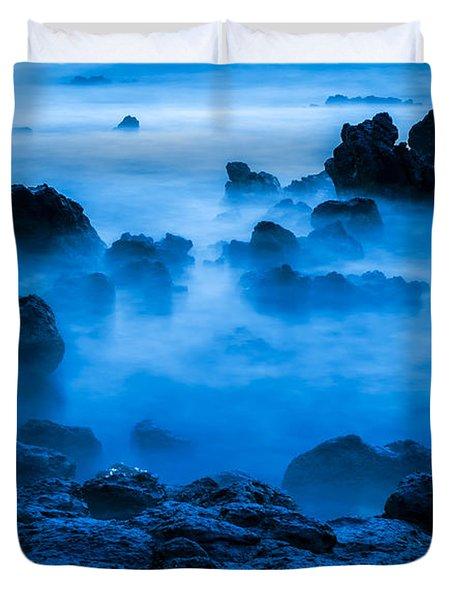 Ghostly Ocean 1 Duvet Cover by Leigh Anne Meeks
