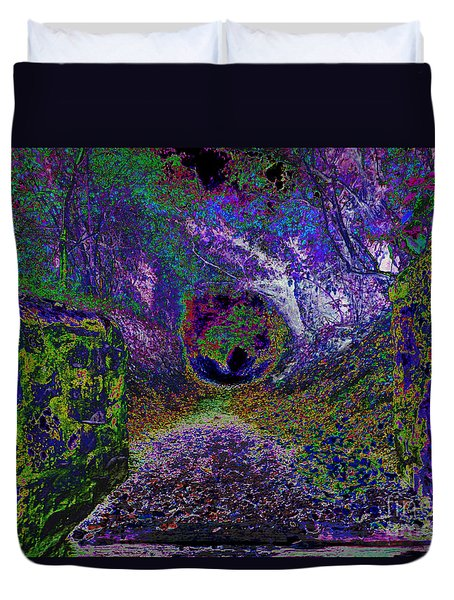 Ghostly Walkway Duvet Cover by Pete Moyes