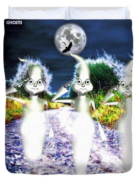 Duvet Cover featuring the digital art Ghosts by Daniel Janda