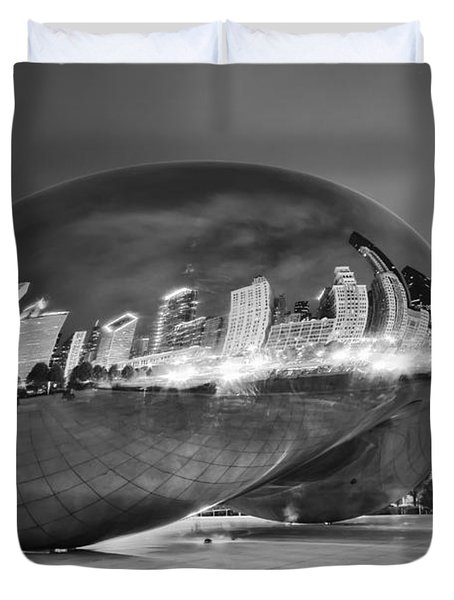 Ghosts In The Bean Duvet Cover by Adam Romanowicz