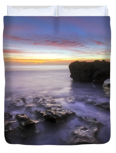 Ghosts In The Cove Duvet Cover by Debra and Dave Vanderlaan